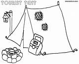 Tent Coloring Coloringway sketch template