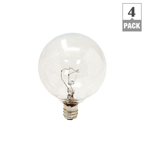 ge 25 watt incandescent g16 5 globe candelabra base clear