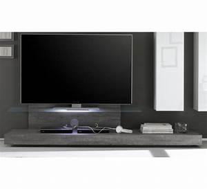 Meuble Tele Gris : meuble tv bois gris new box 6410 ~ Teatrodelosmanantiales.com Idées de Décoration
