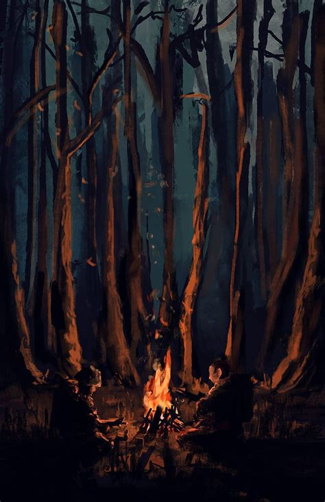 Dayz Forest Campfire By Kaelakov  Art Pinterest