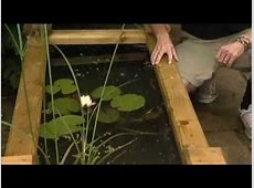 How to make a Wooden Raised Bed Pond YouTube