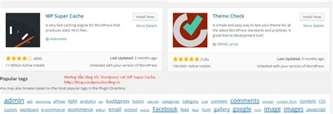 Hướng Dẫn Tăng Tốc Wordpress Với Wp Super Cache