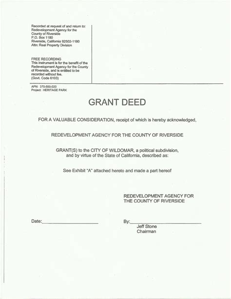 17754 grant deed form unique grant deed form sle grant deed form 7 exles