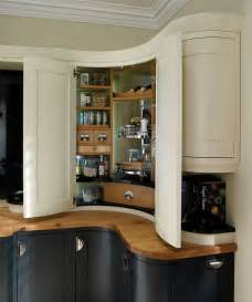 corner kitchen pantry ideas bespoke corner pantry