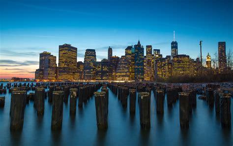 The Port Manhattan New York City Sunset Dusk Landscape 4k ...