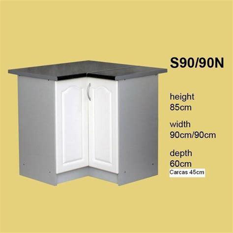 meuble cuisine en coin promo meuble de cuisine en coin 2 portes 90 cm élément