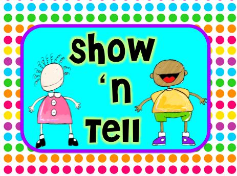 large list of show and tell ideas for letter of the week show n tell day 1 teach123 93761
