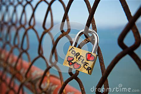 lock   love  golden gate bridge stock photo image