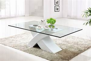 Contemporary glass coffee tables adding more style into for Nice glass coffee tables