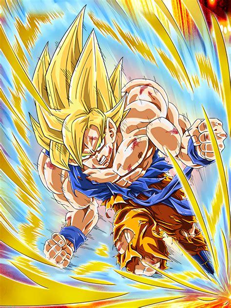 Deadly Awakening Super Saiyan Goku Dragon Ball Z Dokkan