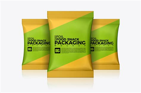 In this adobe photoshop file you can create your own fully customizable packaging project where you can display your own brand. Free Foil Food Snack Packaging Mockup on Behance