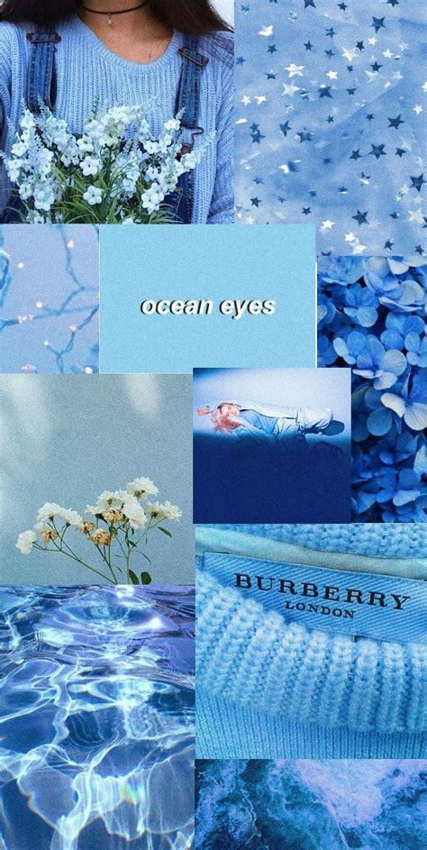 blue photos aesthetic wallpapers
