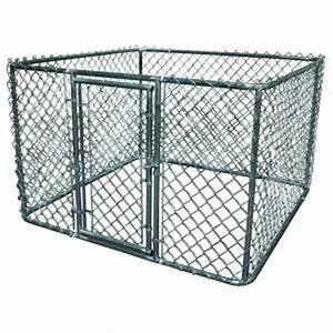 k 9 kwik dog kennel 6 ft x 6 ft x 4 ft galvanized steel With dog house kits home depot