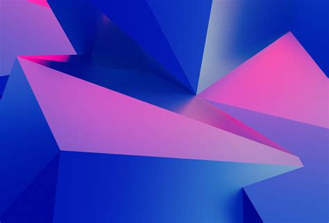 wallpaper  geometric blue pink triangles