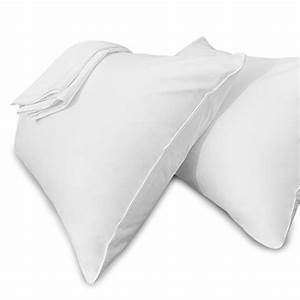 white pillow cases standard size hidden zippered 100 With bed bug pillow cases