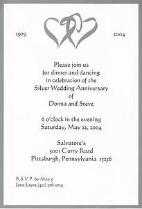wedding invitation wording surprise 25th wedding With examples of 25th wedding anniversary invitations