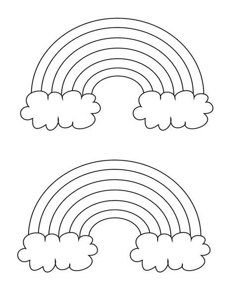 Free Printable Rainbow Templates Small Medium & Large