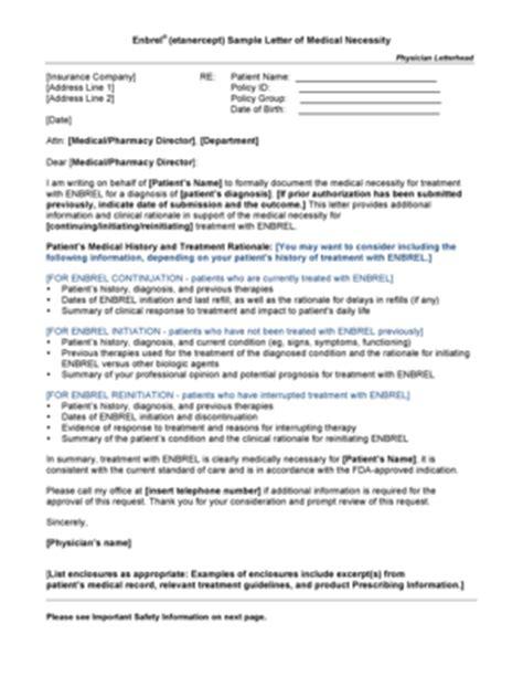 fillable  enbrel etanercept sample letter  medical