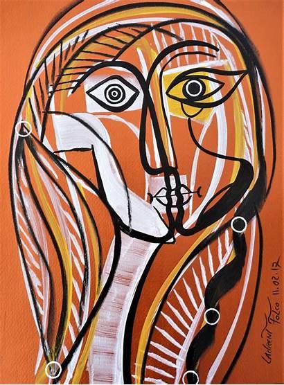 Cubiste Portrait Laurent Picasso Pablo Malarstwo Cubisme