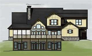 house plans with walkout basement 3 story 4 bedroom lake or mountain house plan