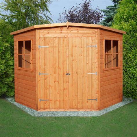 bike shed ideas shire corner shed 8 x 8 2 25m x 2 25m elbec garden