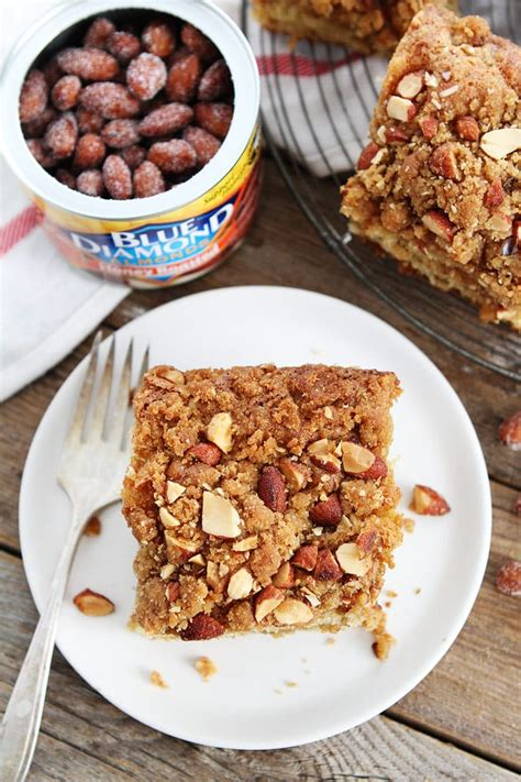 My mom made a bisquik coffee cake often during my childhood. Almond Coffee Cake Recipe   Two Peas & Their Pod