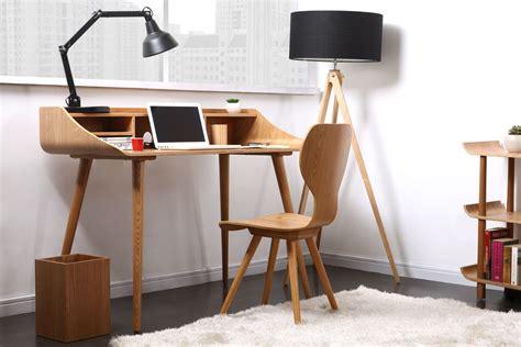 bureau vintage pas cher bureau vintage avec lignes arrondies en bois nordeco