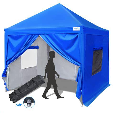 upgraded quictent  ez pop  canopy gazebo party tent  mesh windows sides waterproof