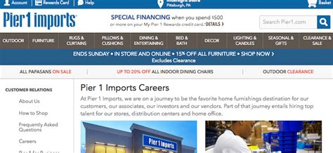 Pier Jobs by Pier 1 Imports Application 2018 Careers Job
