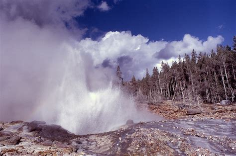 Steamboat Geyser by Yellowstone History Steamboat Geyser Yellowstone Insider