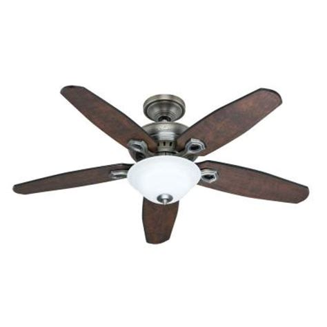 hunter fairhaven 52 in antique pewter ceiling fan with