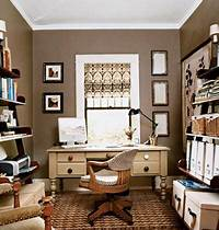 home office colors Taupe Walls - Traditional - den/library/office