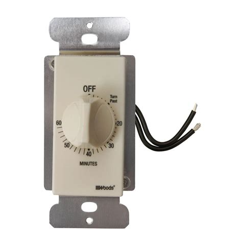 dimmer knob wall plate woods 60 minute in wall wound countdown timer