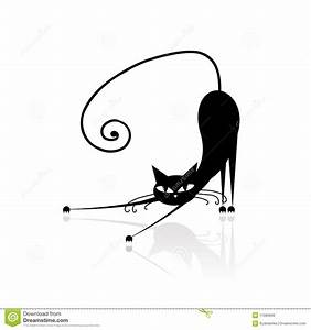 Black Cat Silhouette For Your Design Royalty Free Stock ...