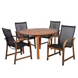 sabadel eucalyptus round patio dining set 5 pcs sam s