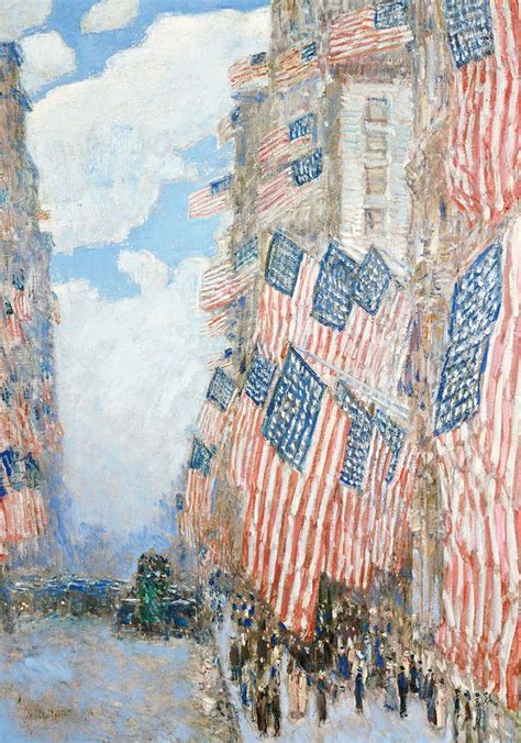 fourth  july painting  childe hassam