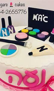עוגת איפור Makeup cake   Sugar cake, Cake, Birthday cake
