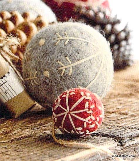 roost felt snowflake ball ornaments ornament felting