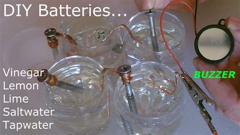 5 batteries vinegar lemon lime salt water diy