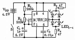 555 jewelry small electronic circuit diagram 555 timer With ultrasonic range finder circuit free electronic circuits 8085