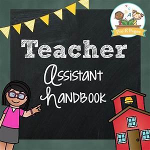 teacher assistant packet pre k pages With teacher handbook template
