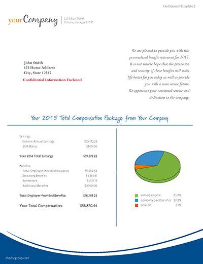 Total Rewards Compensation Template total compensation statement template best template idea