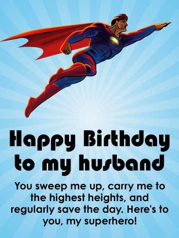 powerful happy birthday wishes card  husband birthday