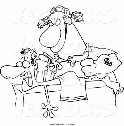 Cartoon Therapist Coloring Patient Massage Rough Female