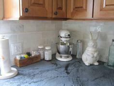 photos of kitchen backsplashes marble beveled subway tile backsplash and quartz 4163