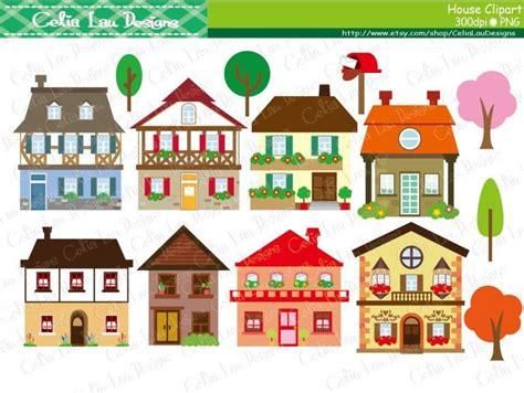 Houses Clip Art, Buildings, Homes, Cute
