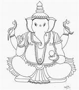 Ganesh Elfie sketch template