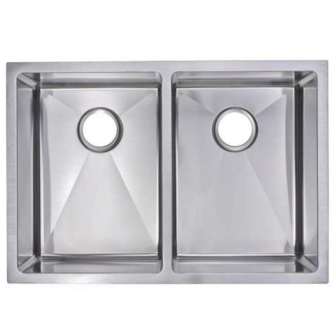 kitchen sink finishes water creation undermount small radius stainless steel 29 2707