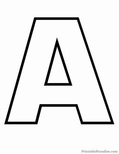 Outline Alphabet Letter Template Templates Pdf