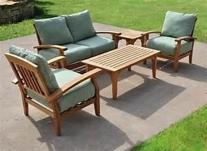 Salon Jardin Teck : table de salon exterieur chaise jardin pas cher ~ Melissatoandfro.com Idées de Décoration